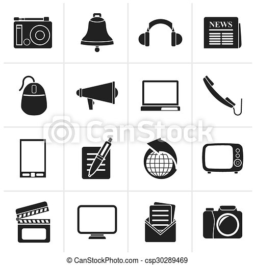 Communication and media icons - csp30289469