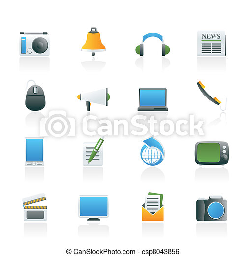 Communication and media icons - csp8043856