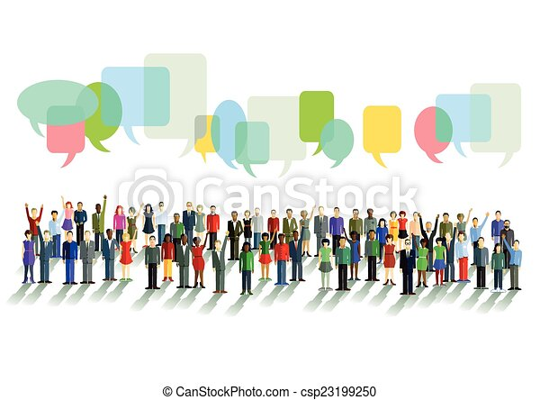 Communication and opinions - csp23199250