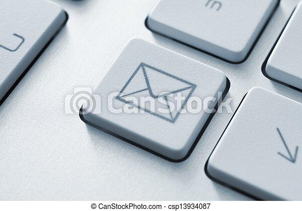 communication, bouton, email, internet - csp13934087