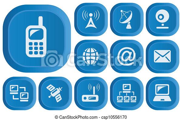 Communication buttons - csp10556170