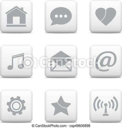 Communication buttons set - csp49606898