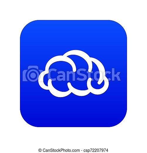 Communication cloud icon blue - csp72207974