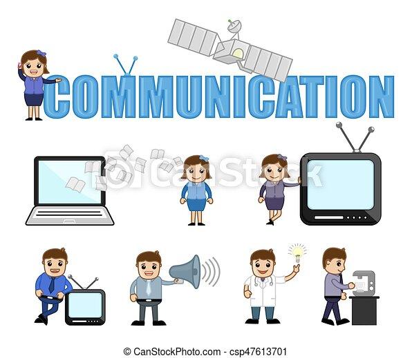 Communication Conceptual Cartoon Vectors - csp47613701