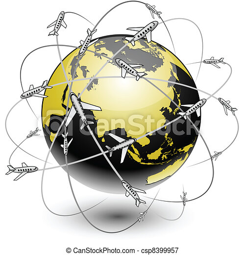 Communication Earth - Eurasia. - csp8399957