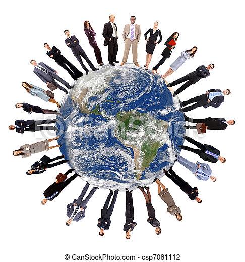 communication globale, concept - csp7081112
