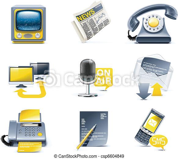 communication, icon., vecteur, média - csp6604849