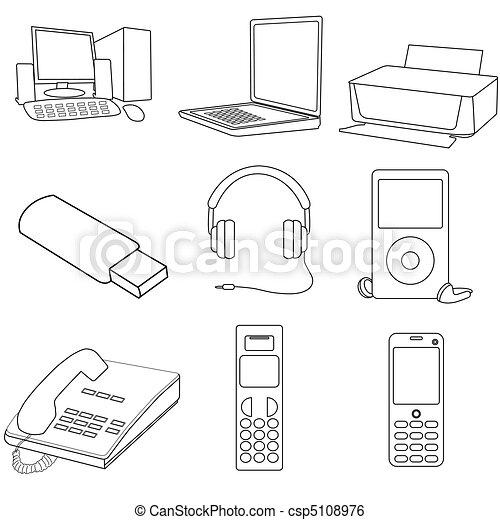 communication icons - csp5108976
