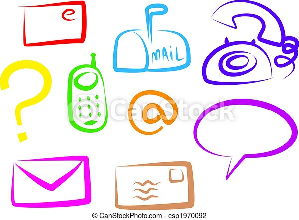 communication icons - csp1970092
