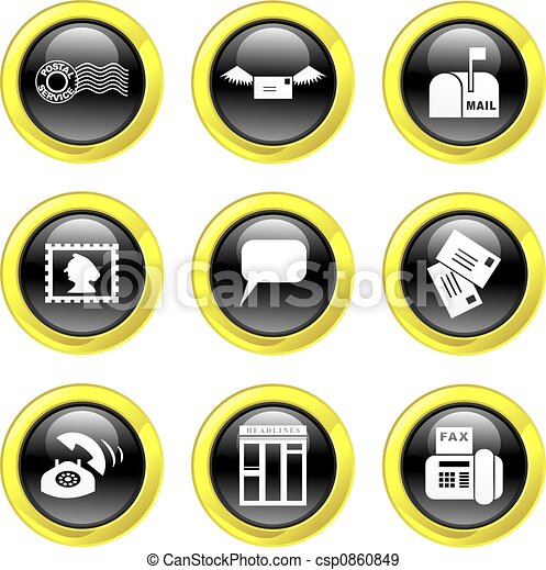 communication icons - csp0860849