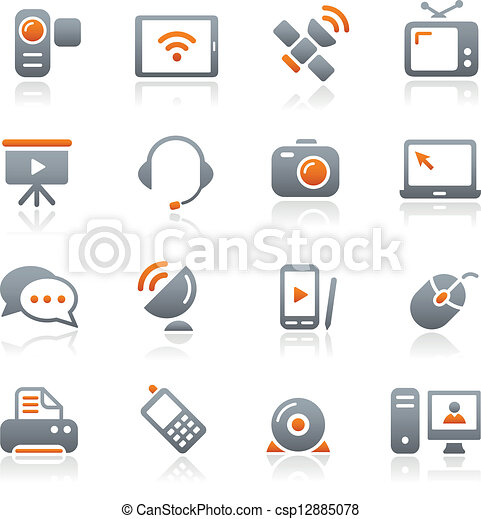 Communication Icons // Graphite - csp12885078