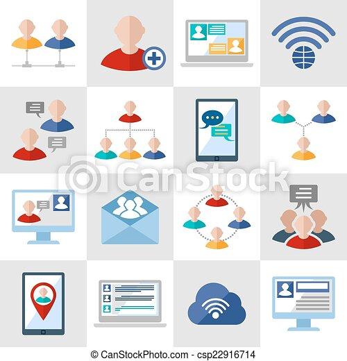 Communication icons set - csp22916714