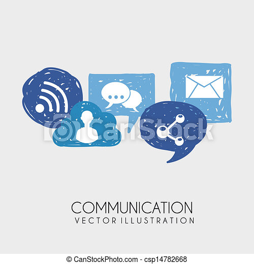 communication icons  - csp14782668