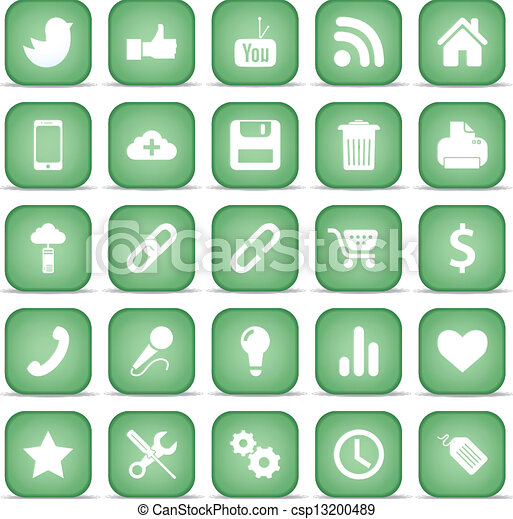 Communication icons. Web set Internet collection. - csp13200489