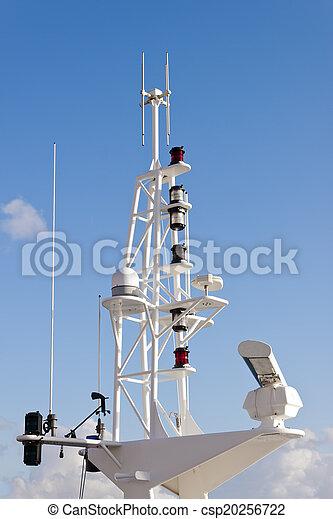 Communication mast on ship. - csp20256722