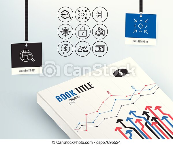 Set Of Communication Minimize And Cash Icons Lock Sign Out And