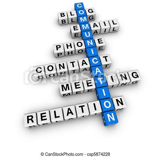 communication, mots croisés - csp5874228