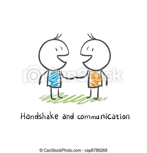 communication, poignée main - csp8786269