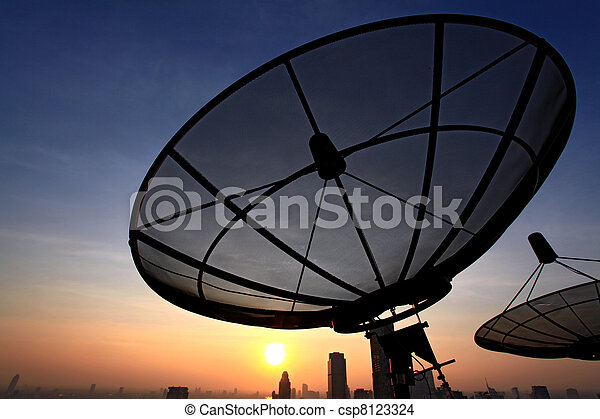 communication satellite dish - csp8123324