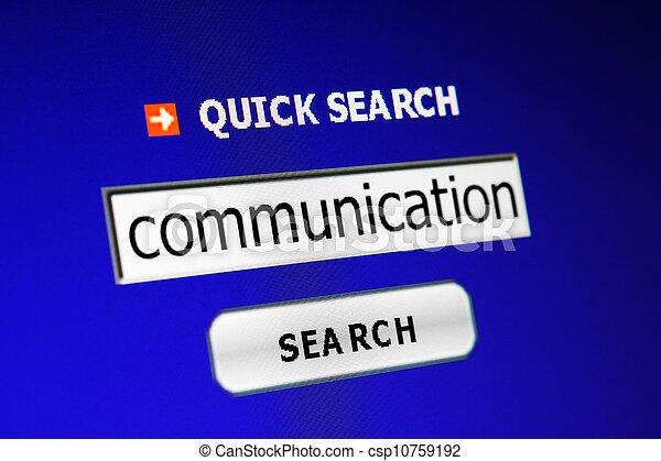 Communication search - csp10759192
