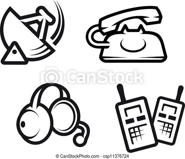 Communication Symbols Set Of Communication Symbols For Technology