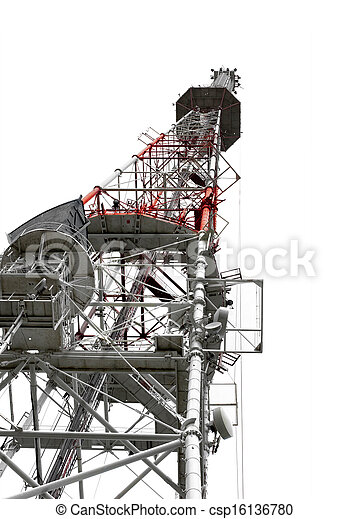 Communication Tower with Antennas - csp16136780