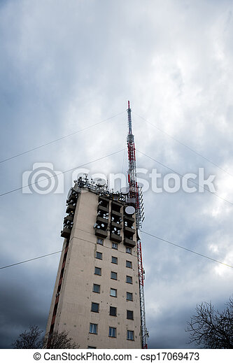 Communications tower against sky - csp17069473