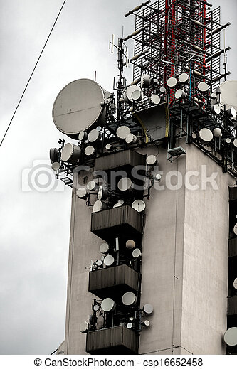 Communications tower against sky - csp16652458