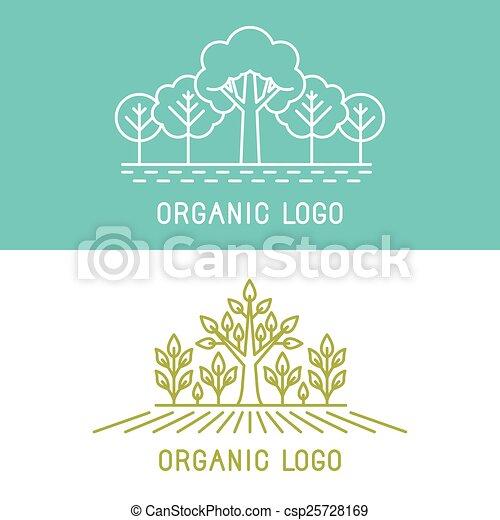 communie, bomen, vector, ontwerp, parken, logo - csp25728169