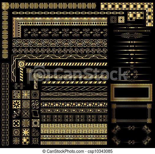 communie, grens, goud - csp10343085