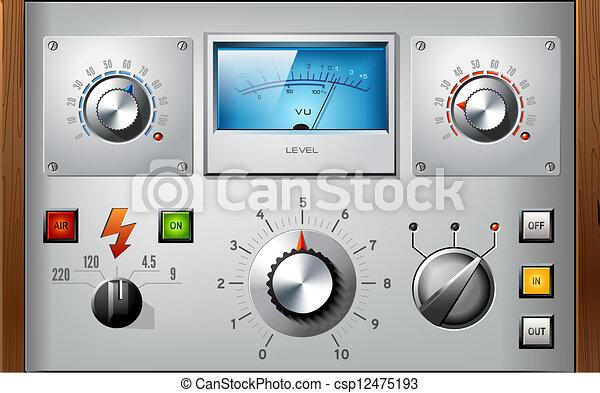 communie, set, controles, vector, interface, analoog - csp12475193