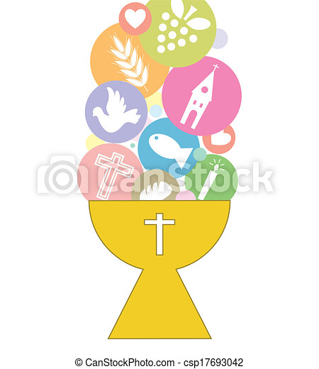 communion, carte, invitation - csp17693042