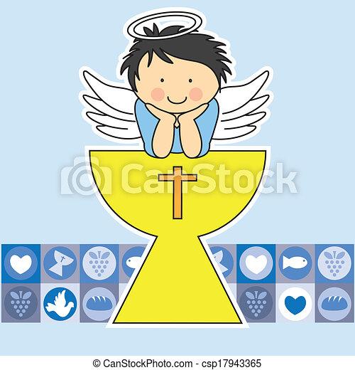 communion, carte, premier - csp17943365