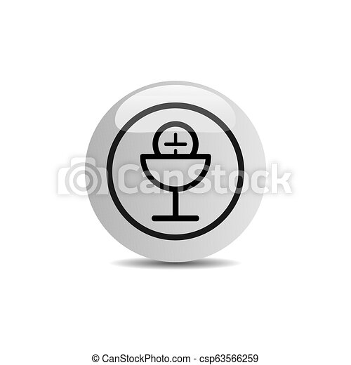 Communion icon in a button on a white background - csp63566259