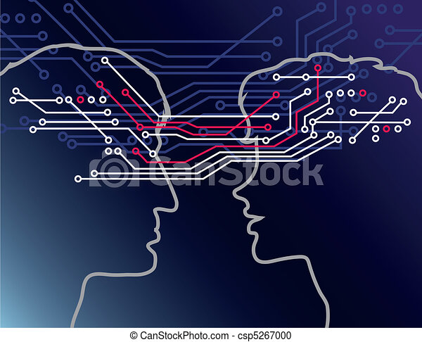 communiquer, gens - csp5267000