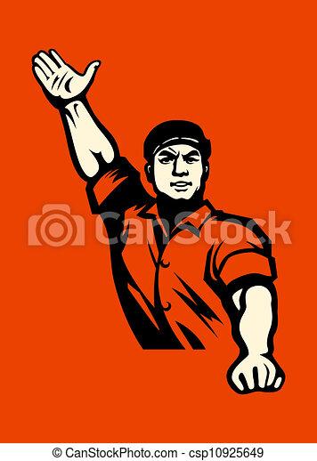 Communist worker - csp10925649