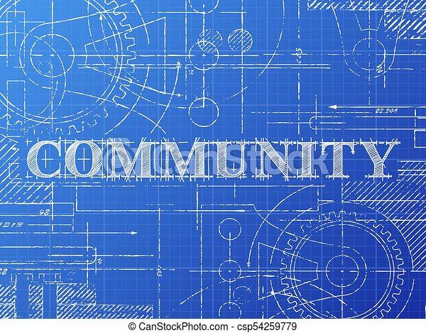 Community blueprint technical drawing community sign vectors community blueprint technical drawing csp54259779 malvernweather Gallery