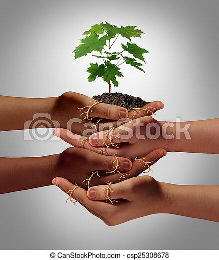 Community Cooperation - csp25308678