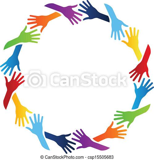 Community Hands Circle - csp15505683