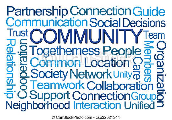 Community Word Cloud - csp32521344
