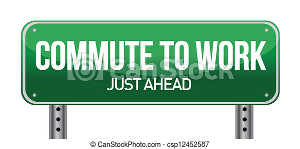 commuting concept illustration desi - csp12452587