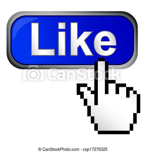 Como un botón - csp17276325
