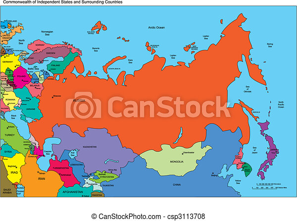 Comonwealth of independent states, russia and countries, names ...