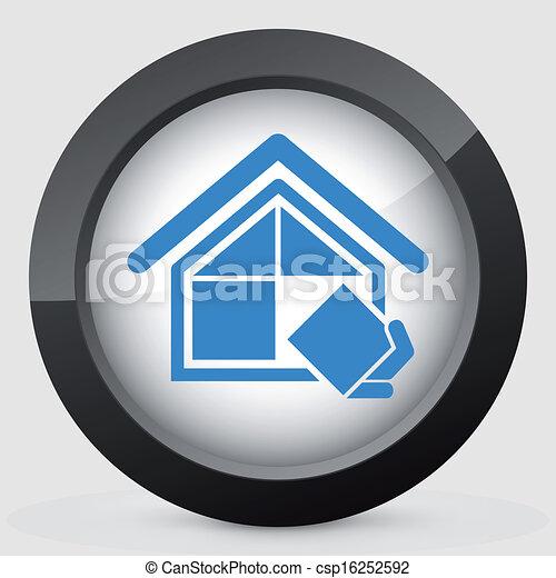 El símbolo de la compañía de construcción - csp16252592