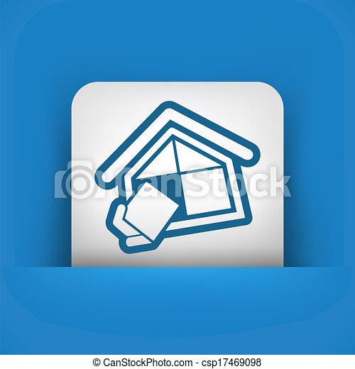 El símbolo de la compañía de construcción - csp17469098