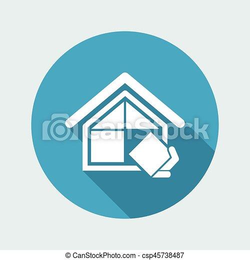 El símbolo de la compañía de construcción - csp45738487