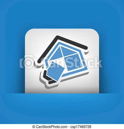 El símbolo de la compañía de construcción - csp17469728