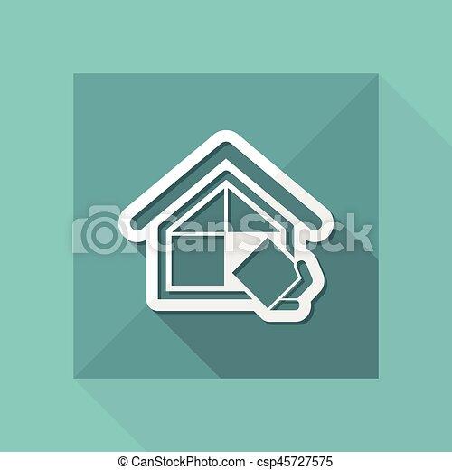 El símbolo de la compañía de construcción - csp45727575