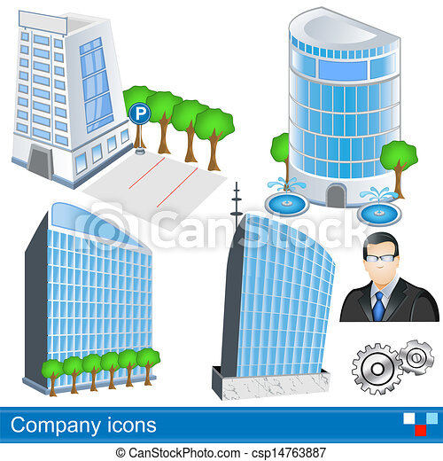 iconos de la compañía - csp14763887