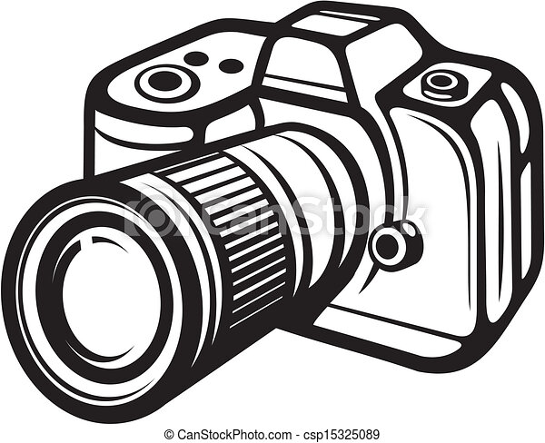 Compacte camera, digitale. Compact, foto, (digital, camera ...